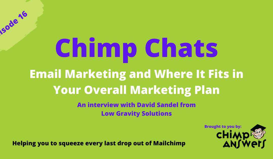 Chimp Chats – Email Marketing and Where it Fits in Your Overall Marketing Plan – Episode 16